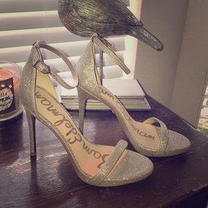 Ariella Ankle Strap Sandal - Light Gold Mesh